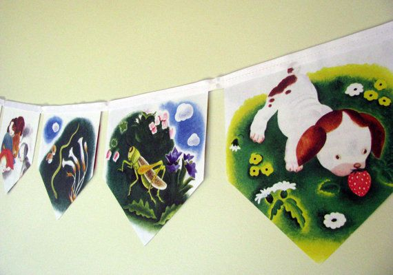 The Poky Little Puppy Storybook Paper Bunting by MagpieSailor on Etsy