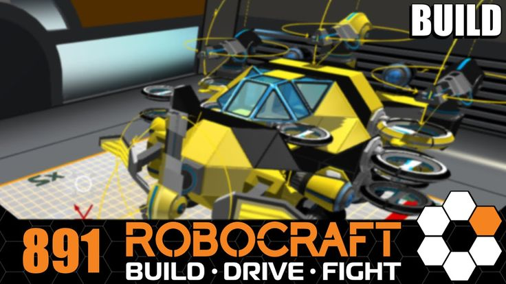 Robocraft 'Wasp' SMG Hover Let's Build