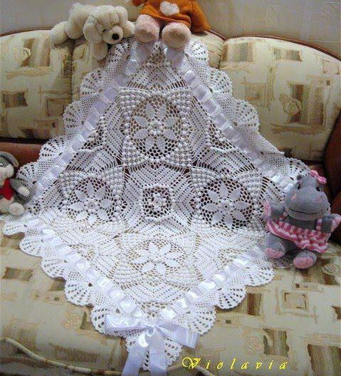 As Receitas de Crochê: Manta de bebê em crochê linda
