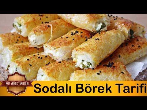 Yufkadan Börek Tarifi | Sodalı Peynirli Rulo Börek Tarifi - YouTube