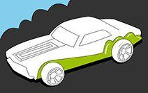 Jogos de pintar e colorir online para crianças: Carro de competição