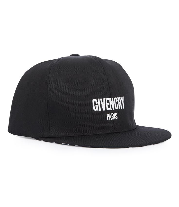 GIVENCHY PARIS LOGO EMBROIDERED CAP FT CHECKED PATTERN