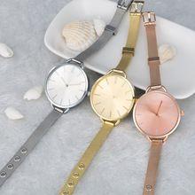 Gold Rose Simple Alloy Watch Minimalist Quartz Watch Women Fashion Temperament Girl Dress Petals Ladies Watch Bracelet (China (Mainland))