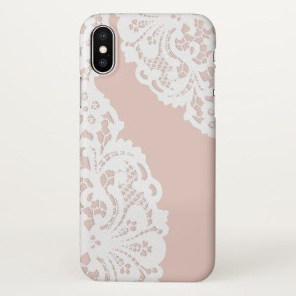 Elegant Vintage White Lace iPhone X Case - lace gifts style diy unique special ideas