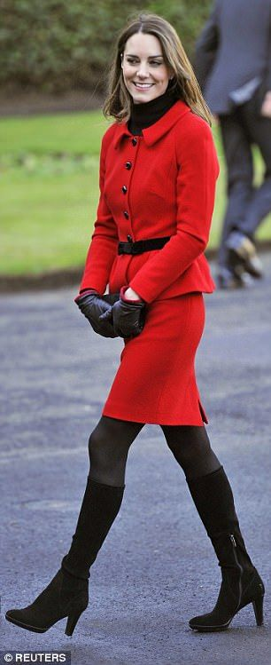 Kate visiting her alma mater St. Andrews University in 2011, before she married Prince Wil... #katemiddleton #royals