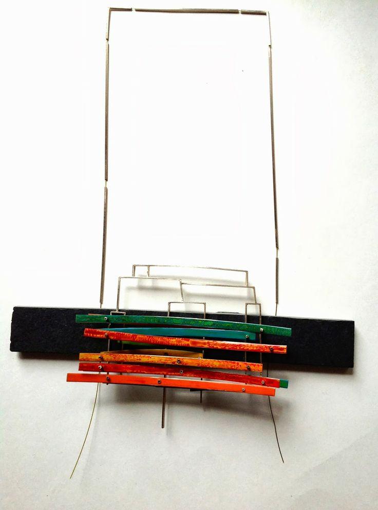 """Francine Schloeth  collar """"alegrías de color""""  2013"""