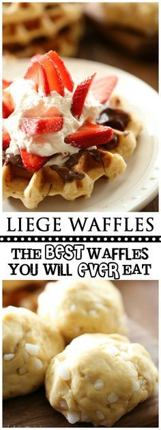 Liege Waffles... Trust me when I say, you will NEVER EVER try a waffle as delicious or special as a Liege Waffle in your entire life. It is a cross between a waffle, a donut, a dessert and all things magical!