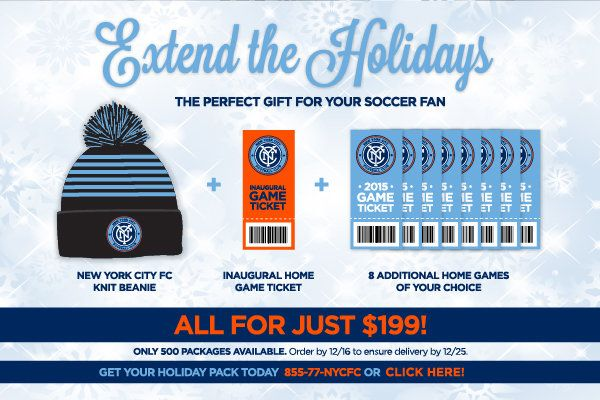New York City FC Holiday Offer