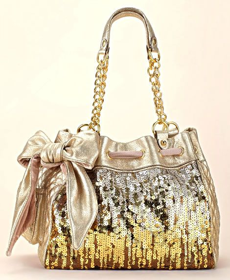 My favorite Juicy Couture purse, the Luxe Sequin Daydreamer Bag in Gold