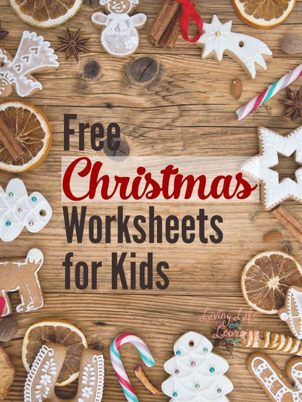 Get into the Christmas with these Christmas themed worksheets for kids