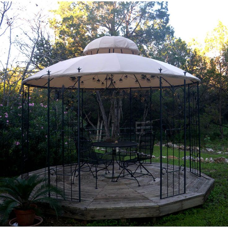 Garden Style Round Gazebo Replacement Canopy - RipLock 350