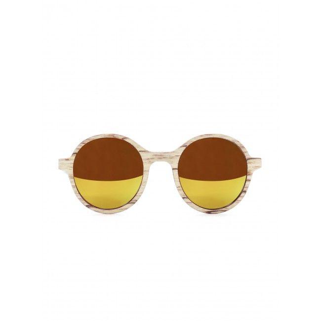 Holz-Sonnenbrille Tropenforscher Weissbirke #wooden #sunglasses #einstoffen #ecodesgin