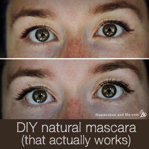 All natural DIY mascara that's non-melting, and non-clumping