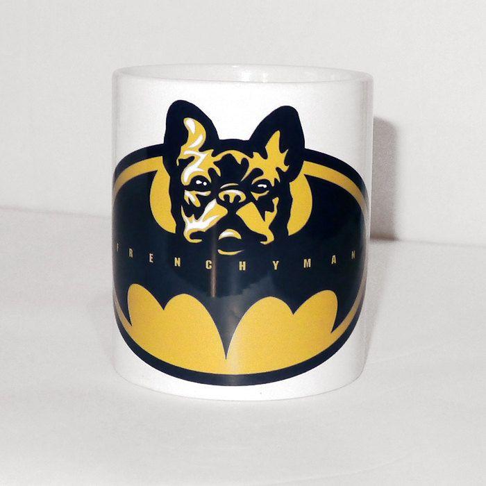 Mug french bulldog Frenchyman, Dog Frenchie, Bat Dog by PSIAKREW on Etsy