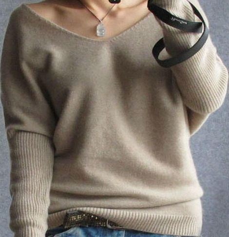100 % Cashmere V-Neck Cool Sweater