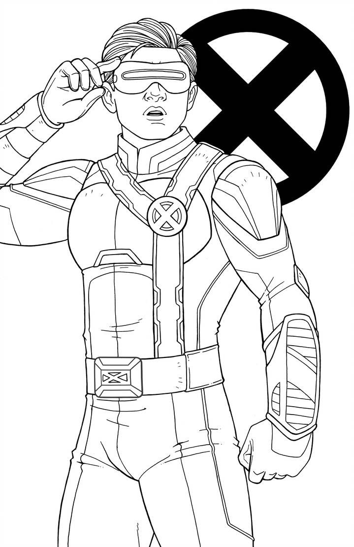 Scott Summers By Jamiefayx Superhero Coloring Disney Coloring Pages Coloring Books