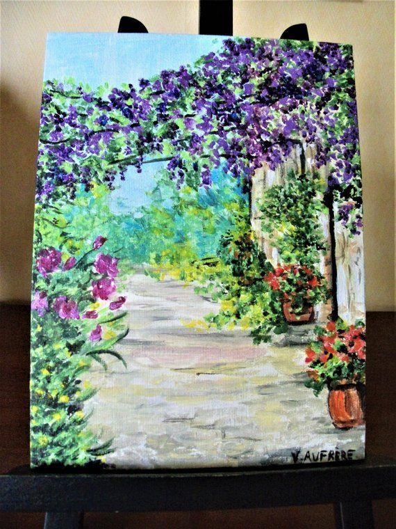 Peinture Impressionniste Glycines Pinturas Acuarela Fondos Tumbler