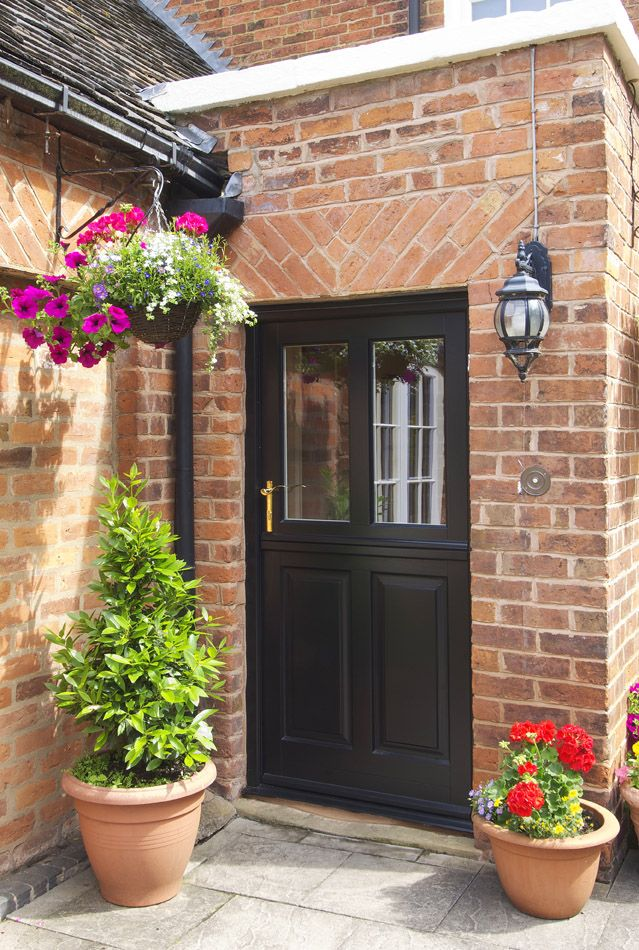 Kingston Style Stable Door Finished In Black Brass Chatsworth