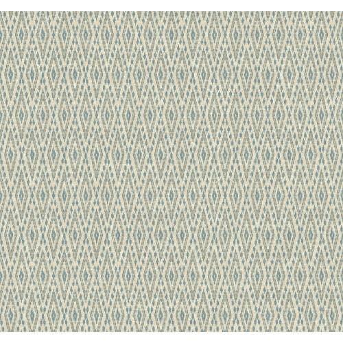 York Wallcoverings EB2040 Candice Olson Vibe Aztec Wallpaper - beige / pale grey / teal (Beige/Pale Grey/Blue)
