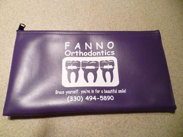 Bank Deposit Bag - Vinyl - Zippered - New - Never Used - Fanno Orthodontics