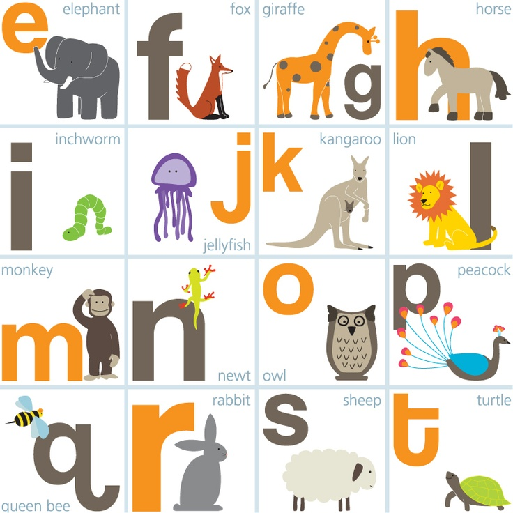Animal Alphabet Poster / English Muffin Shop