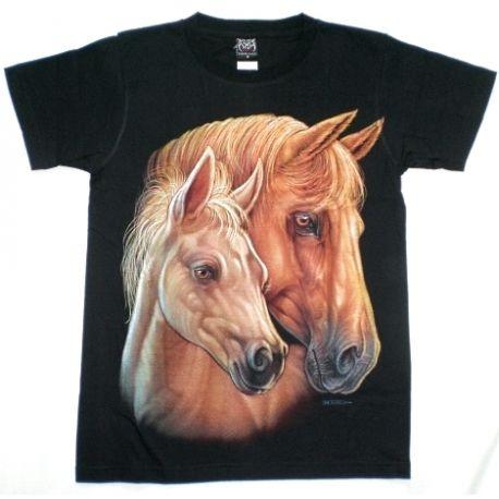 T-shirt stampata cavalli