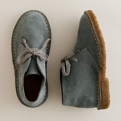 I think Gabriel needs a pair of these! So cute.  Kids' suede MacAlister boots.  J. Crew
