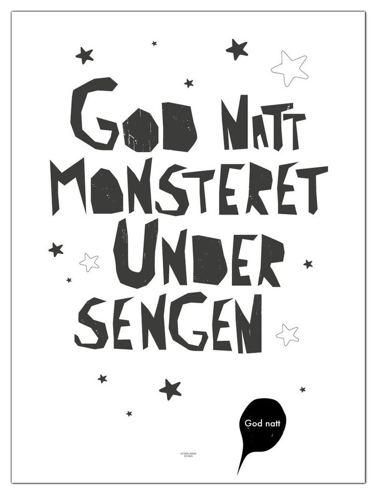 Plakat God natt monsteret