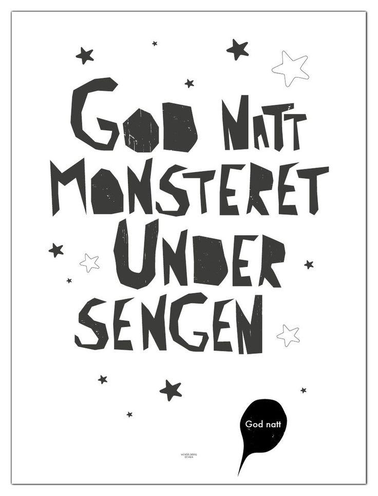 Plakat God natt monsteret