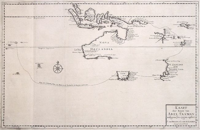 Antique Map of Australia byValentijn, 1726
