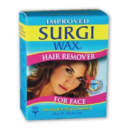 Surgi Wax Hair Remover Wax For Face 28g 0010062 Sugi Wax Hair Remover for Face. Quick, easy and effective, Surgi Wax Microwavable Formual fetaures maple honey. No fuss, no mess and requires no strips. http://www.MightGet.com/may-2017-1/surgi-wax-hair-remover-wax-for-face-28g-0010062.asp