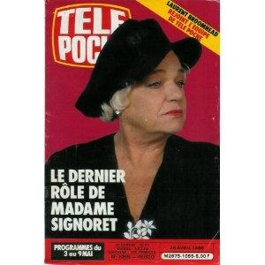 Simone Signoret : son dernier rôle, dans Télé Poche (n°1055) du 28/04/1986 [couverture et article mis en vente par Presse-Mémoire]