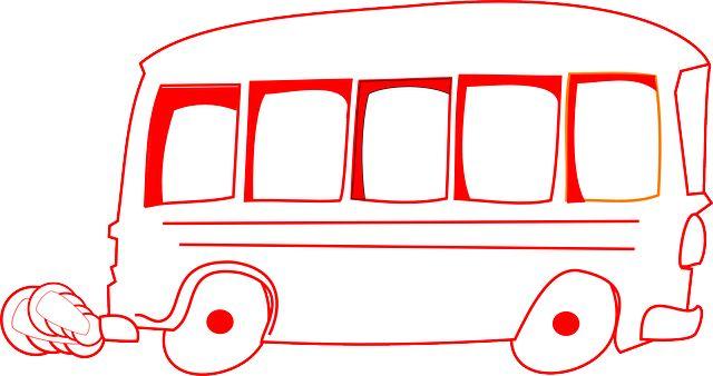 Бесплатное изображение на Pixabay - Автобус, Красный