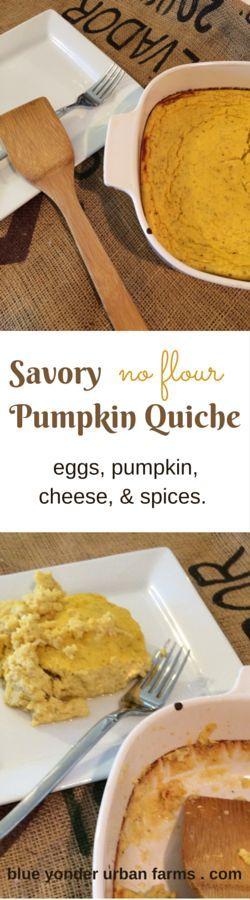 Savory Pumpkin Quiche No Flour | Blue Yonder Urban Farms | Karen Coghlan | /search/?q=#byuf
