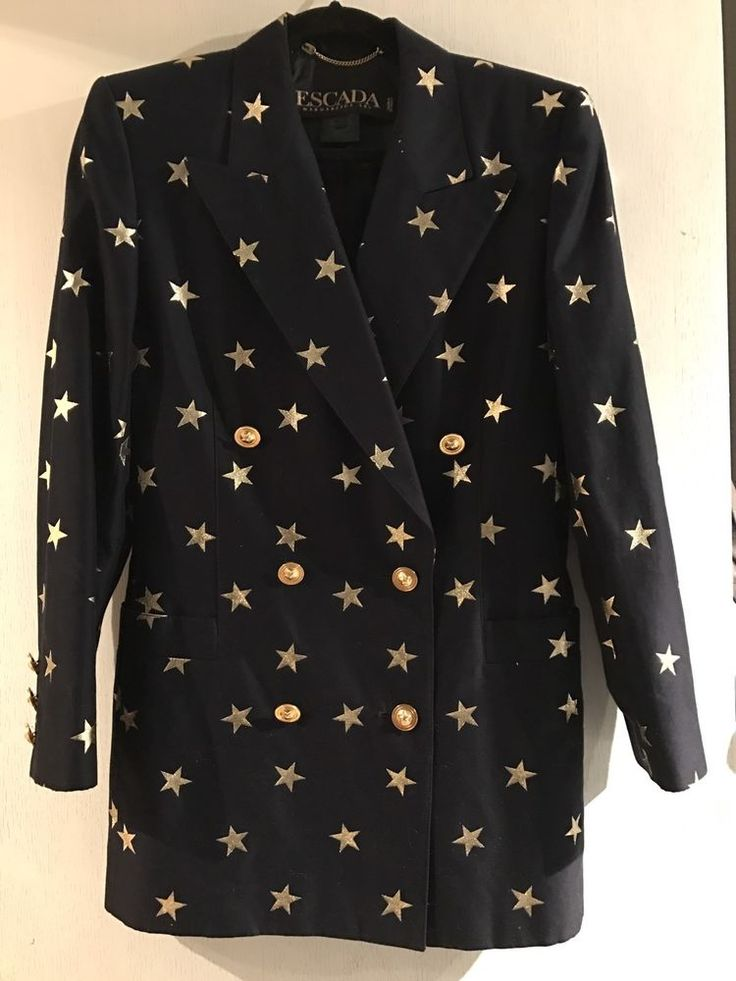 ESCADA MARGARETHA LEY Vintage Star Blazer Size 36 EUC! | Clothing, Shoes & Accessories, Women's Clothing, Suits & Blazers | eBay!