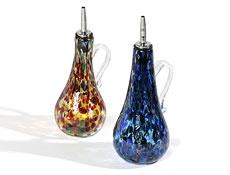 Handblown glass oil bottles (Dottie banscomb)