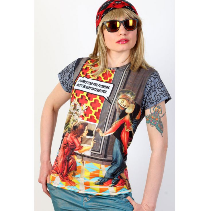 Fullprint tshirt - The annunciation - PUNK PARROT -Online clothes and posters store