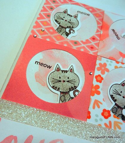 #kitty #card #CTMH  #meow  #stamped  #MaryGunnFunn.com