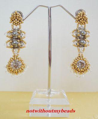 Not without my beads – Nicht ohne meine Perlen: Gelbgold, Grau und Kristall / Yellow gold, gray and crystal