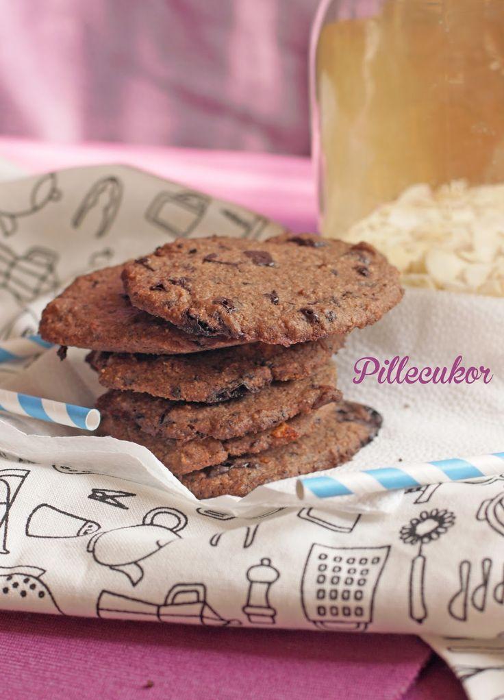 Pillecukor ♥: Csokis keksz (glutén-, laktóz- és cukormentes)