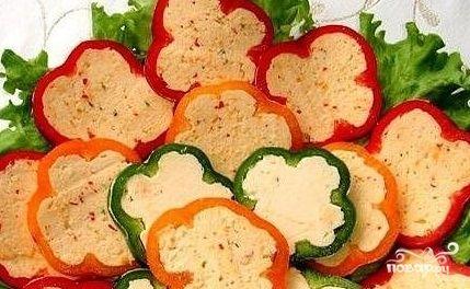 Перец сладкий, фаршированный сыром