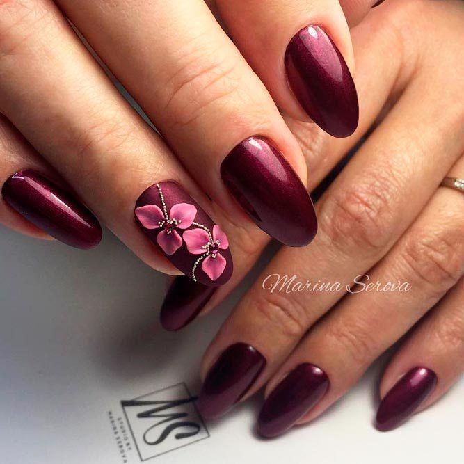 Burgundy Nail Varnish Gel Polish Nail Decoration 2018