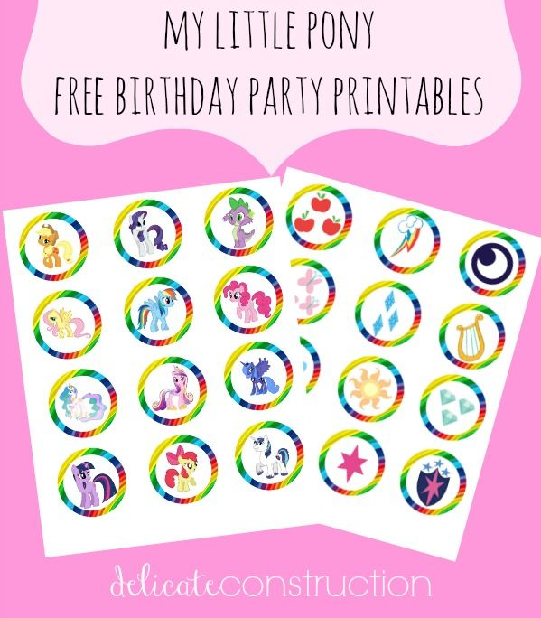 My Little Pony birthday party printables