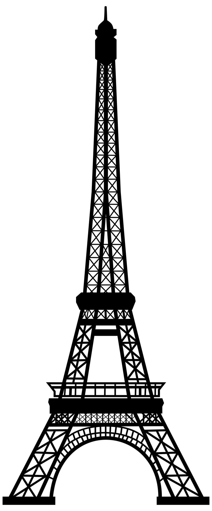Free coloring pages eiffel tower - Transparent Eiffel Tower Silhouette Png Clip Art Image