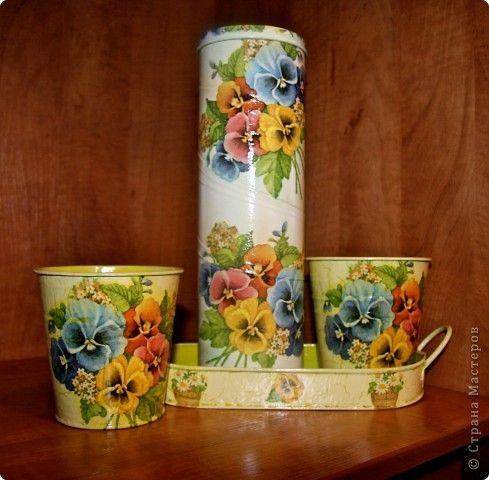 Декупаж - Леечки и кашпо для цветов