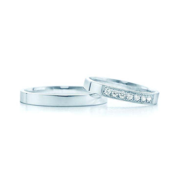 SAVICKI - Obrączki ślubne: Obrączki ślubne złote (633/B/L/3/W/7x1,7mj) - Biżuteria od 1976 r.