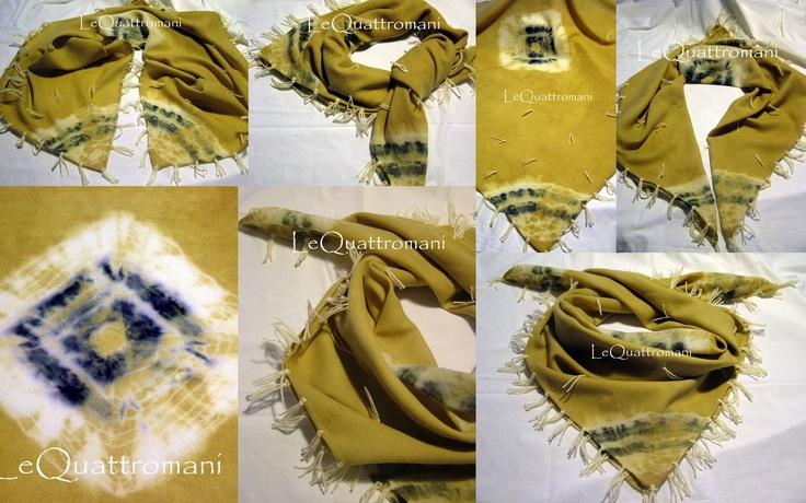 L'ultima Kefiah che abbiamo FINALMENTE terminato....tessuto in lana, tintura di eucalipto e bacche di ginepro, frange e ciuffi in lana AquiLANA ...misura 90 x 90 cm ed è rifinita tutta a mano...SOLO PER VOI !!!  BUON GIORNO !!!