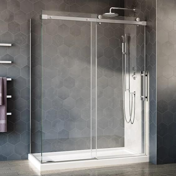 Fleurco Novara Plus Shower Door Two Sided Cw In 2020 Shower Doors Glass Shower Doors Glass Shower