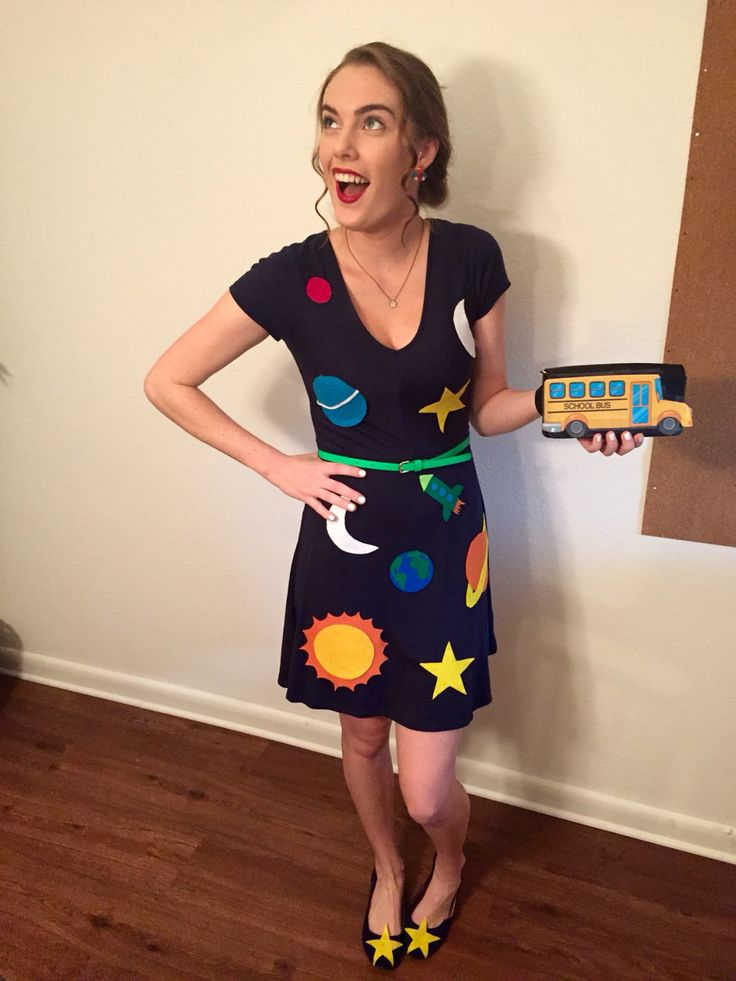 Miss Frizzle - Magic Schoolbus #DIY Halloween Costume                                                                                                                                                                                 More