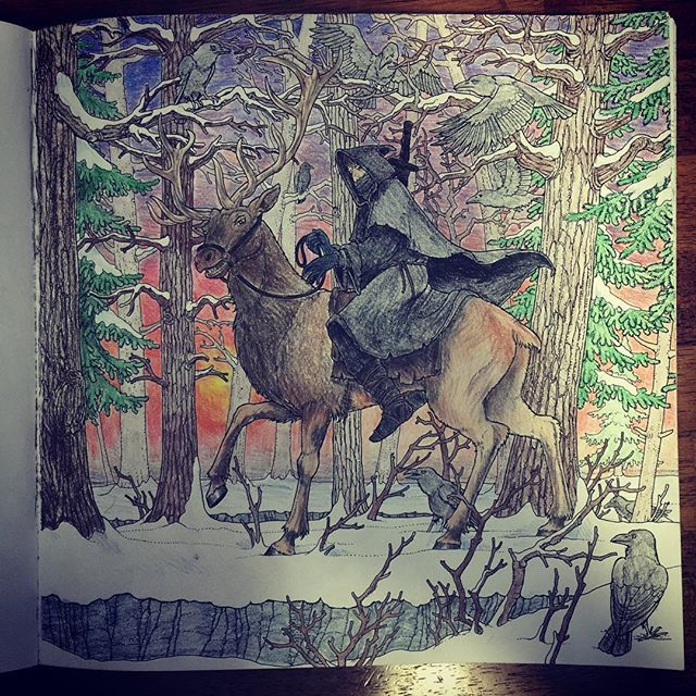 Coldhands-from GOT coloring book